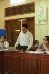Ông Ngô Văn Hồng- Đại diện của tổ chức CIRD chia sẻ tại buổi tọa đàm